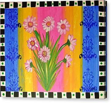 Shabby Chic Daisy Canvas Print