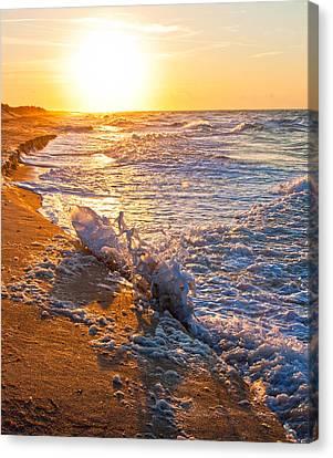 Shackleford Banks Sunrise Canvas Print