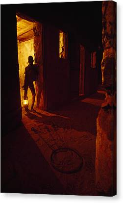 Shackles In Cell On Goree Island Recall Canvas Print by Gordon Gahan