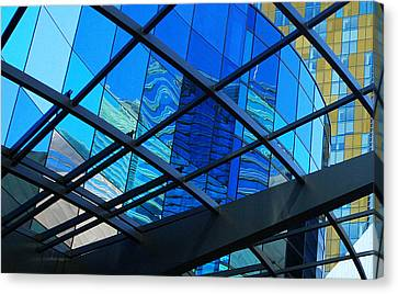 Canvas Print featuring the photograph Shades Of Blue by Linda Edgecomb