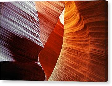 Shades Of Red - Antelope Canyon Az Canvas Print by Christine Till