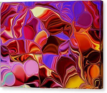Shades Of Satin Canvas Print by Renate Nadi Wesley