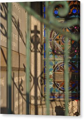 Canvas Print featuring the photograph Shadow Of The Cross by Cheri Randolph