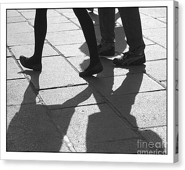 Canvas Print featuring the photograph Shadow People by Victoria Harrington