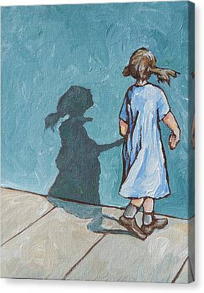 Shadow Play Canvas Print by Sandy Tracey