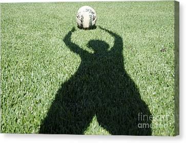 Goalkeeper Canvas Print - Shadow Playing Football by Mats Silvan