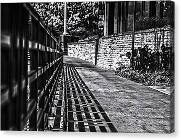 Canvas Print featuring the photograph Shadow Walk by Tom Gort