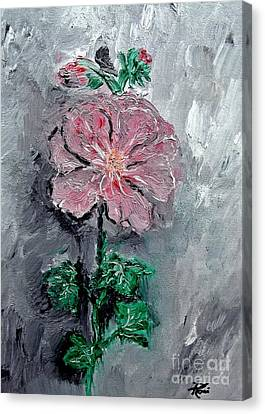 Canvas Print featuring the painting Shadowed Petals by Ayasha Loya