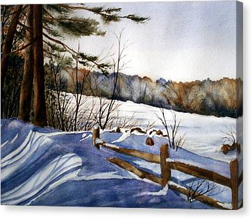 Shadows Of Winter Canvas Print by Daydre Hamilton