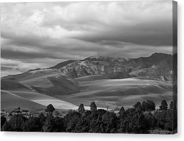 Shadows Sand Mountians Canvas Print by Wilma  Birdwell