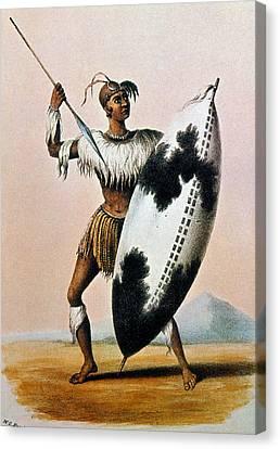 Shaka Zulu (c1787-1828) Canvas Print by Granger