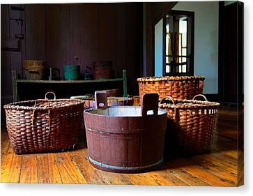Shaker Baskets Canvas Print by Lone Dakota Photography
