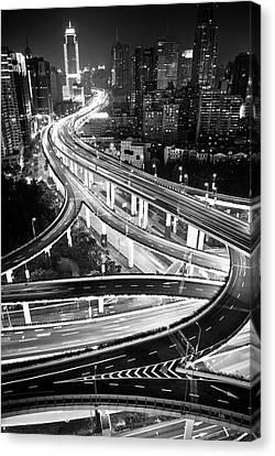 Shanghai, Yanan East Interchange Canvas Print by Yves ANDRE