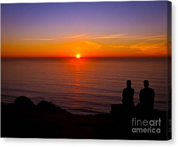Share A Sunset To Start 2012 Canvas Print by Carl Jackson