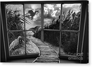 Sharing In The View Canvas Print by Scott Allison