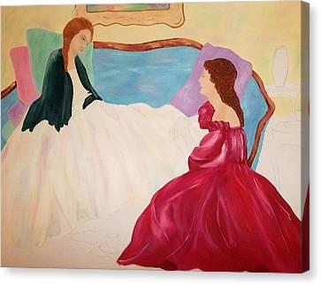 Sharing Thoughts Canvas Print by Alanna Hug-McAnnally