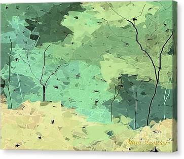 Canvas Print featuring the painting Shattered Forest by Steven Lebron Langston