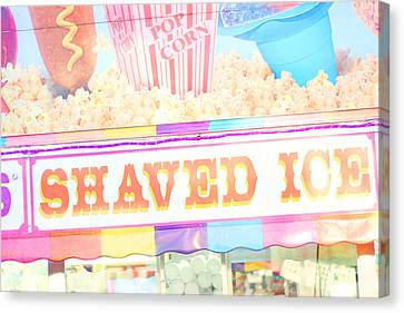 Shaved Ice Canvas Print by Amy Tyler