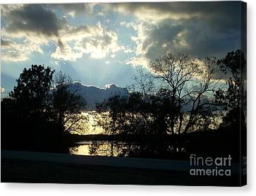 Shawnee Mission Park Sunset  Canvas Print by Mark McReynolds