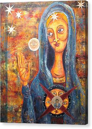 She Sees And Blesses All Canvas Print by Suzan  Sommers