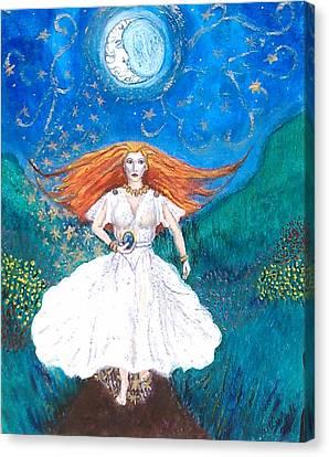 She Walks In Beauty Canvas Print by Janice T Keller-Kimball