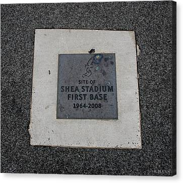 Shea Stadium First Base Canvas Print
