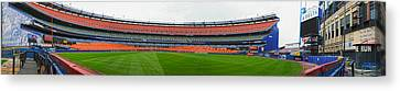 Shea Stadium Pano Canvas Print by Dennis Clark