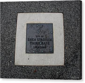 Shea Stadium Third Base Canvas Print by Rob Hans