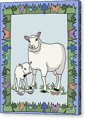 Sheep Artist Sheep Art Canvas Print by Audra D Lemke