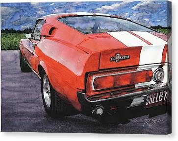 Shelby Gt500 Canvas Print by Rod Seel