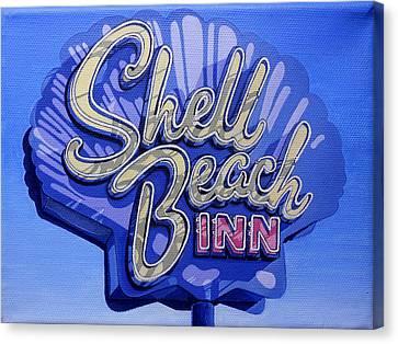 Shell Beach Inn Canvas Print by Jeff Taylor