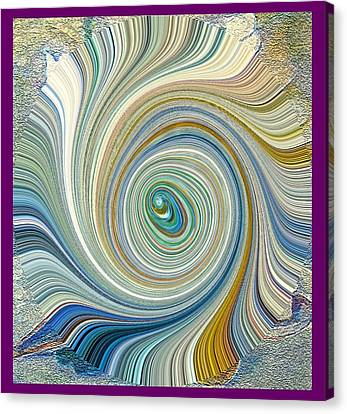 Canvas Print featuring the painting Shell Fantasy by Richard James Digance