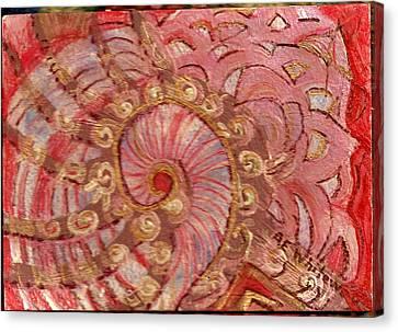 Shell Sensation Canvas Print by Anne-Elizabeth Whiteway