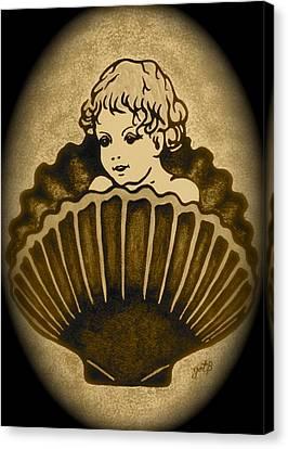 Shell With Child 2 Canvas Print by Georgeta  Blanaru