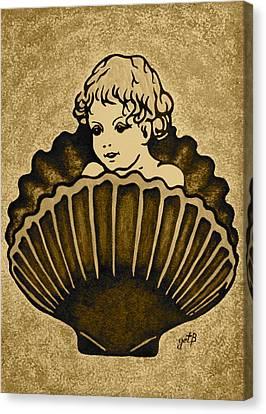 Shell With Child 3 Canvas Print by Georgeta  Blanaru