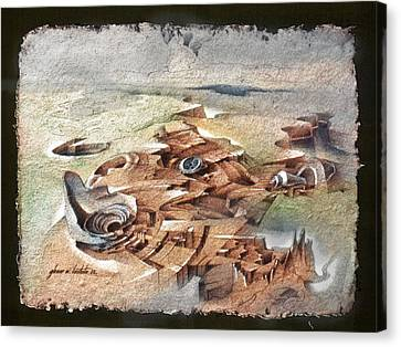 Shellscape 1982 Canvas Print by Glenn Bautista