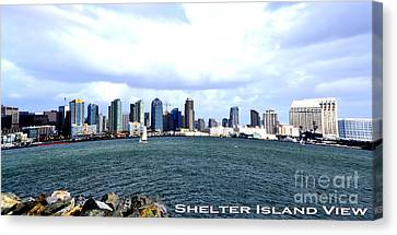 Shelter Island Ca View Canvas Print by RJ Aguilar
