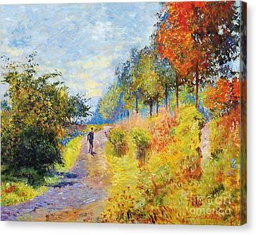 Sheltered Path - Sur Les Traces De Monet Canvas Print
