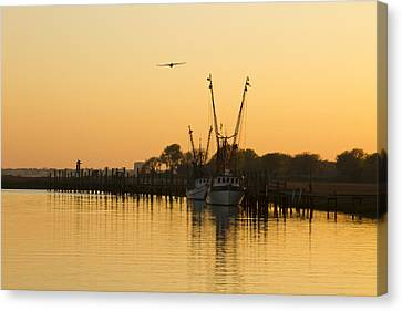 Canvas Print featuring the photograph Shem Creek by Carrie Cranwill
