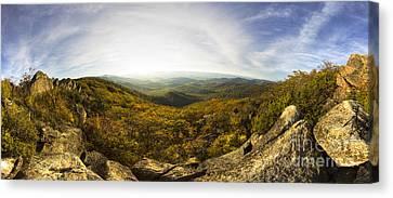 Shenandoah National Park Panoramic Canvas Print by Dustin K Ryan