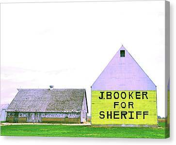 Sheriff Booker And Take Her Away Canvas Print by Daniel Ness