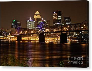 Sherman Minton Bridge Canvas Print by Joe Finney