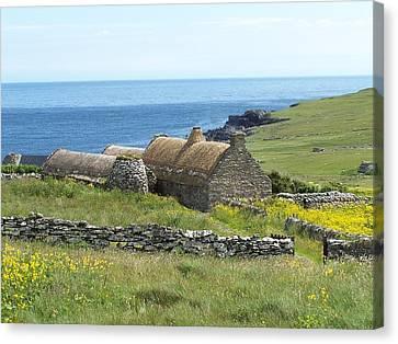 Shetland Croft House Museum Canvas Print by George Leask