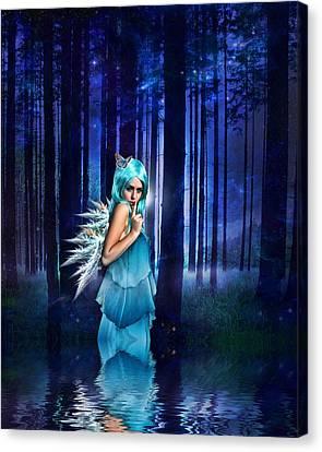 Fairies Canvas Print - Shhhhh We Exist by Sharon Lisa Clarke