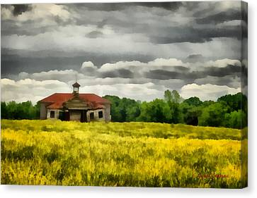 Shiloh School Canvas Print by Lynne Jenkins