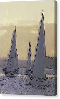 Shilshoe Marina Races 2 Canvas Print by Arthur Kuntz
