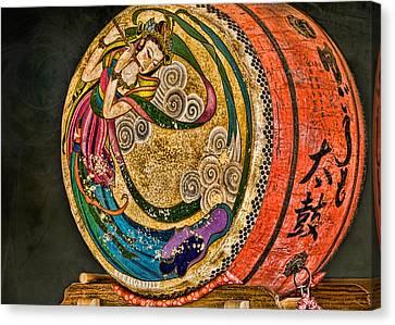 Shinto Drum Canvas Print by Karen Walzer