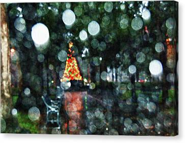 Shiny Tree In Bienville Square Canvas Print by Michael Thomas