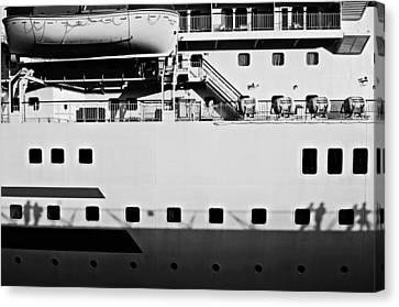 Ship Watching Canvas Print by Dean Harte