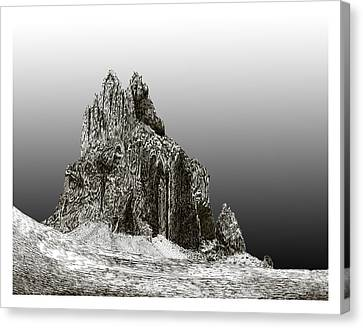 Shiprock Mountain Four Corners Canvas Print by Jack Pumphrey